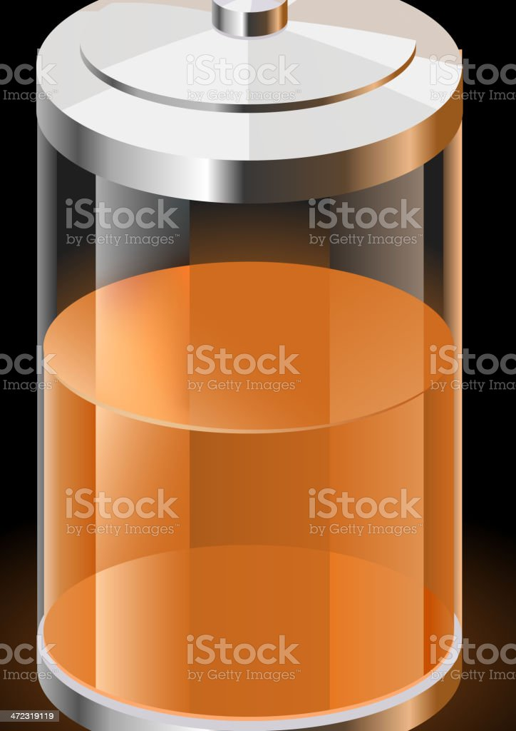 Battery Charge Power Line royalty-free stock vector art