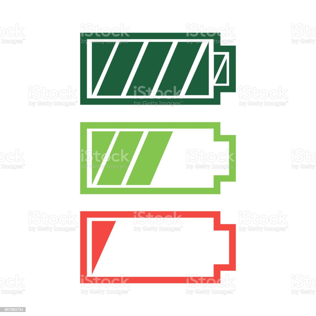 Battery charge status icon vector royalty-free battery charge status icon vector stock illustration - download image now