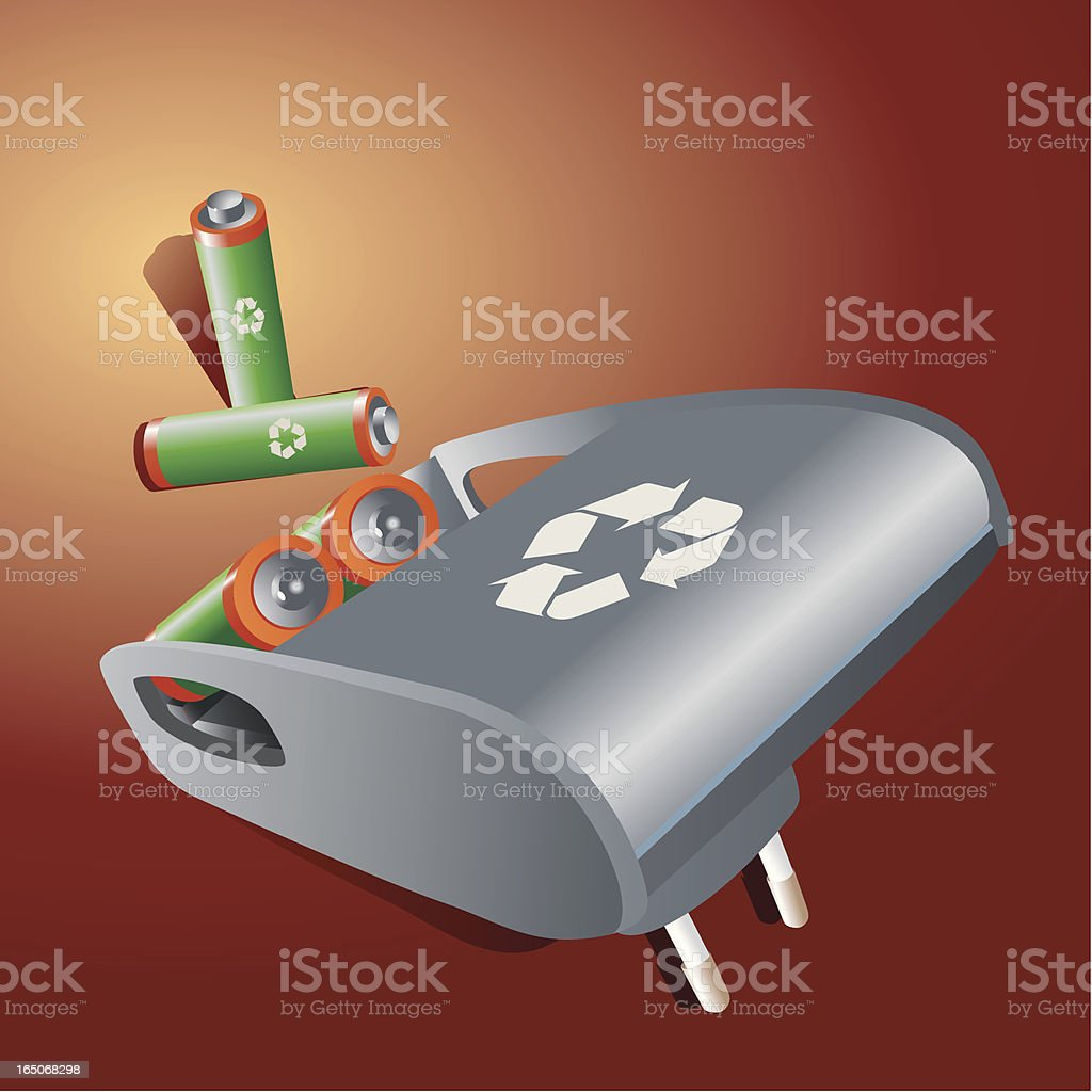 Battery Charger vector art illustration