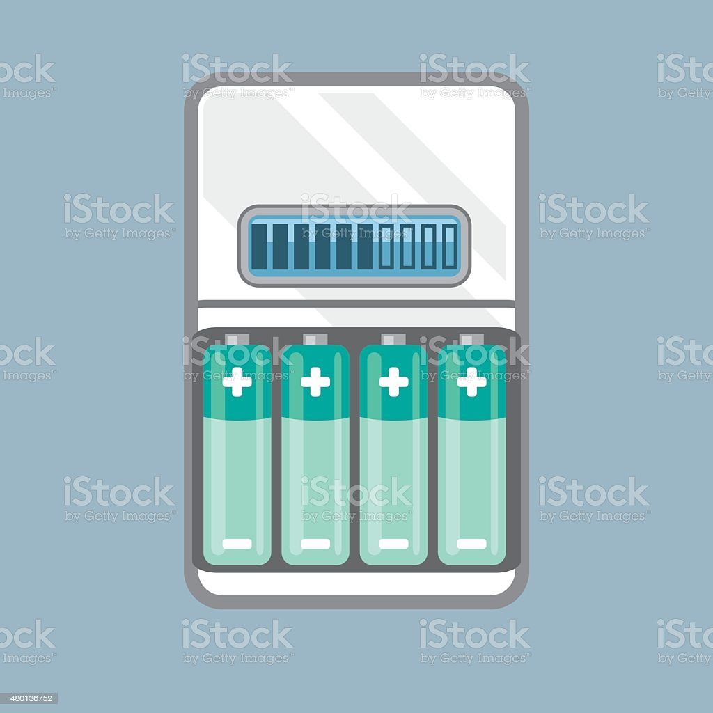 Battery Charger vector vector art illustration