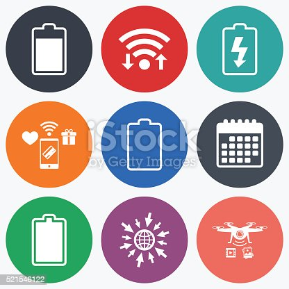 Battery Charging Icons Electricity Symbol Stock Vector Art 521546122