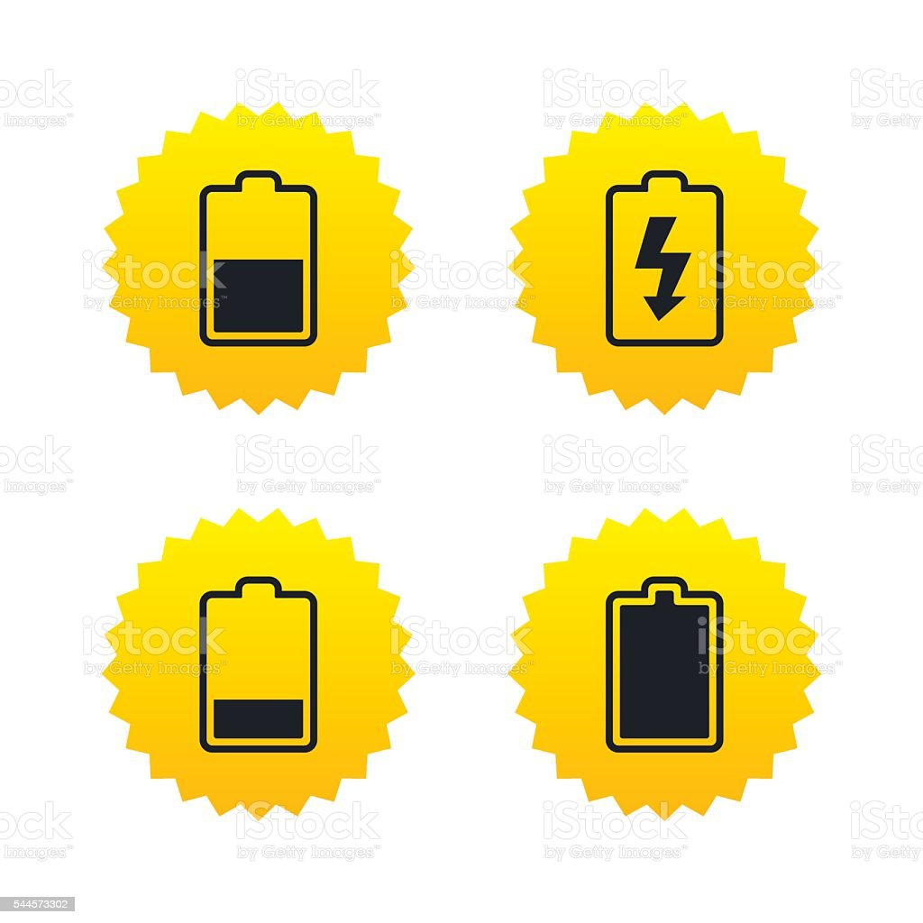 Batterieladung Symbole Strom Symbol Stock Vektor Art und mehr Bilder ...