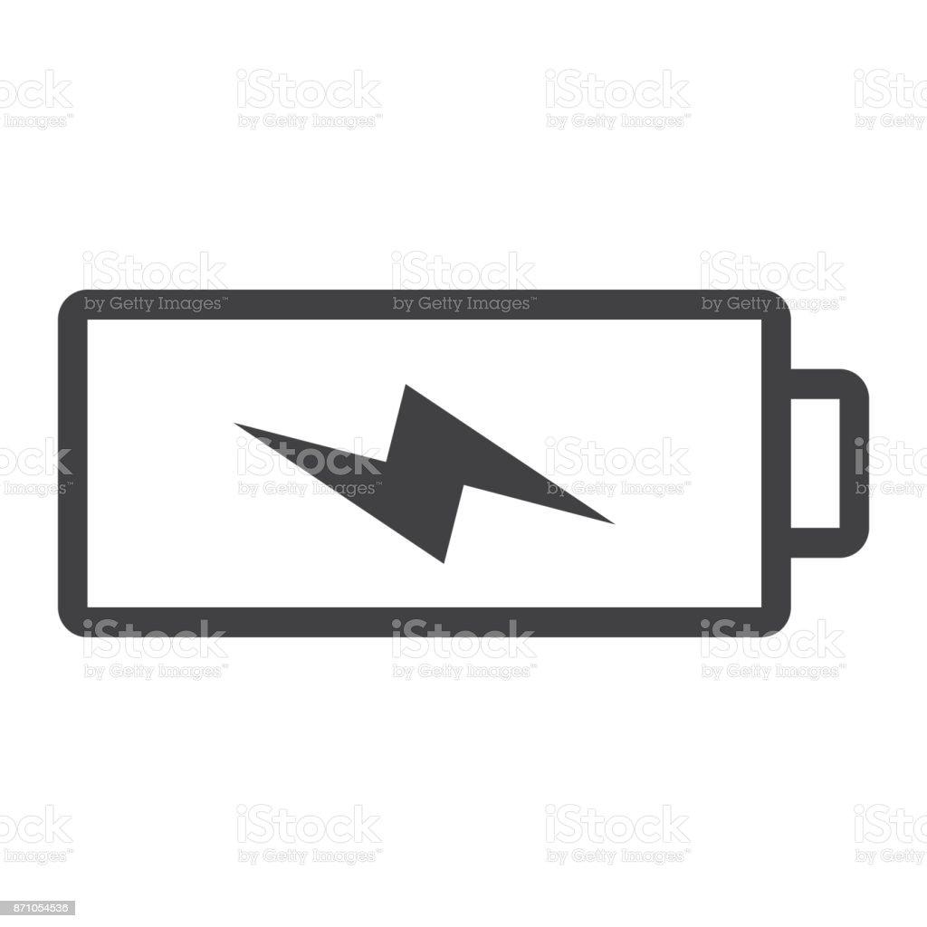 充電線アイコンwebモバイルエナジー ベクター グラフィックスで白い ...