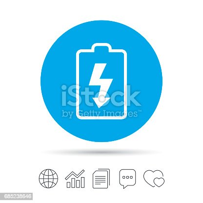 Battery Charging Sign Icon Lightning Symbol Stock Vector Art More