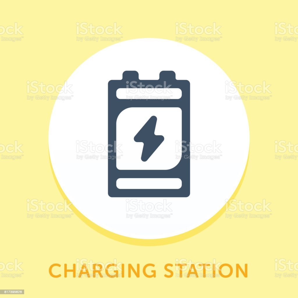 Battery Curve Icon vector art illustration