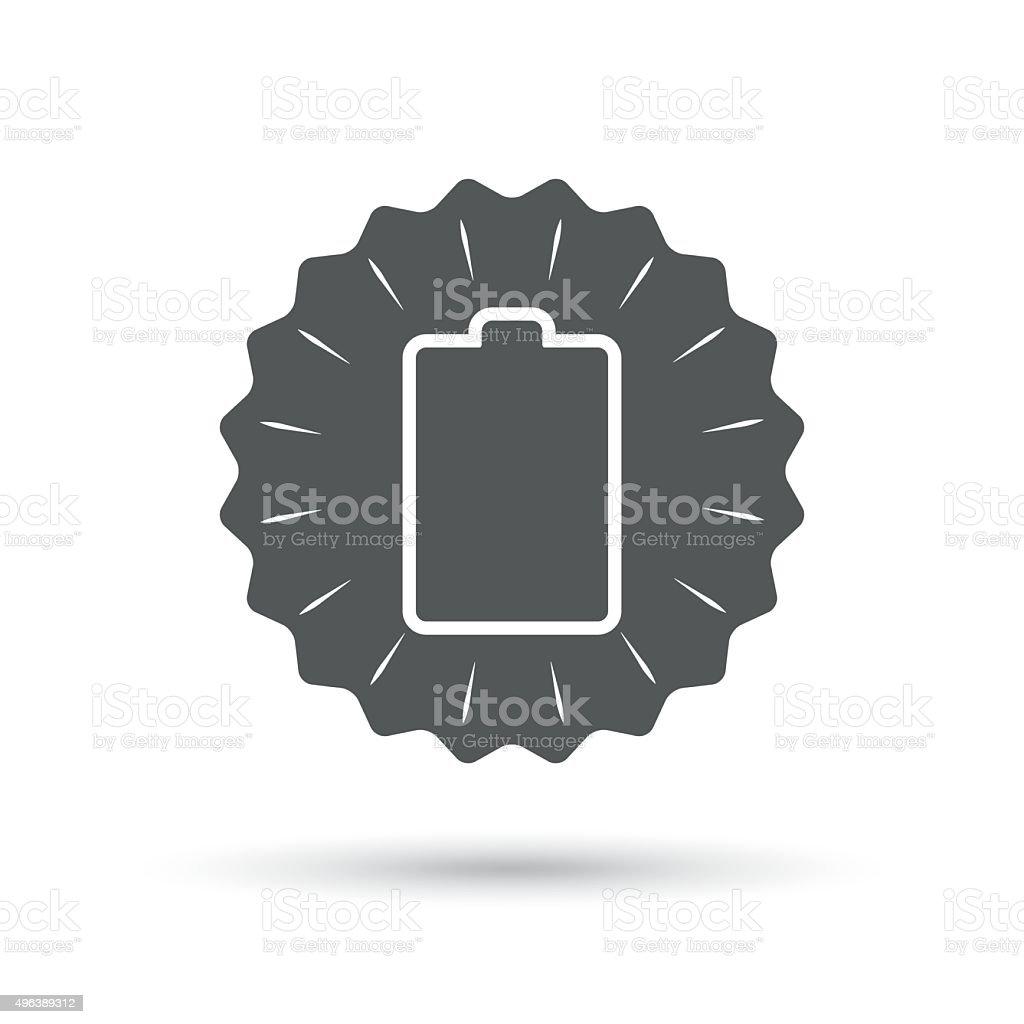 Batterie Leer Zeichenicon Niedrigen Strom Symbol Stock Vektor Art ...