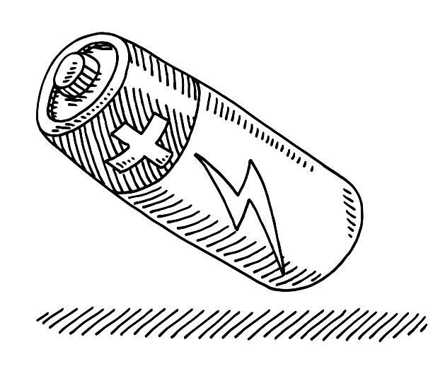батарея flash символ чертеж - lightning stock illustrations