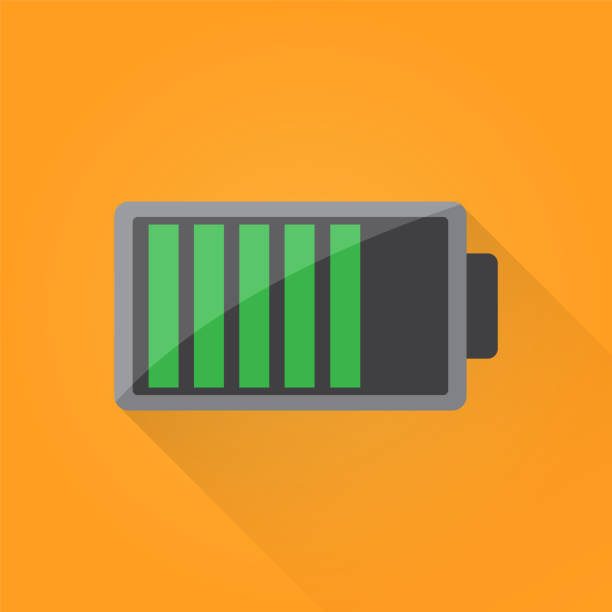 Battery Flat Icon Battery Flat Icon lithium stock illustrations