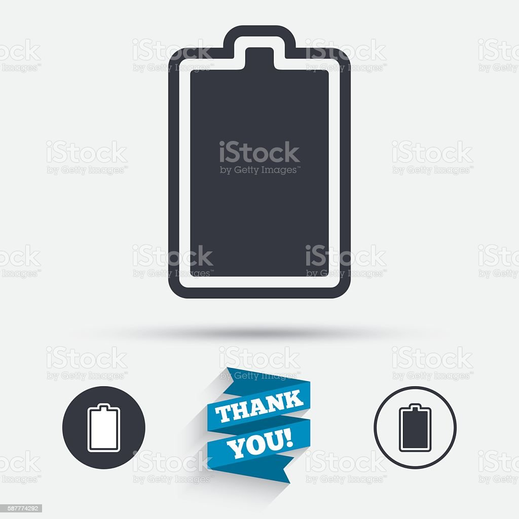 Batterie Aufgeladen Zeichenicon Elektrizität Stock Vektor Art und ...