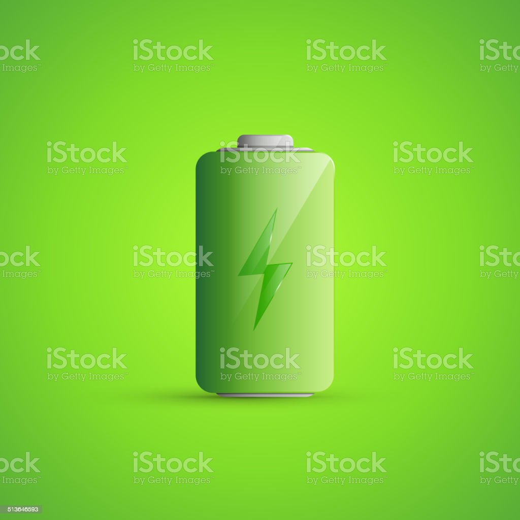 Battery Icon Illustration vector art illustration