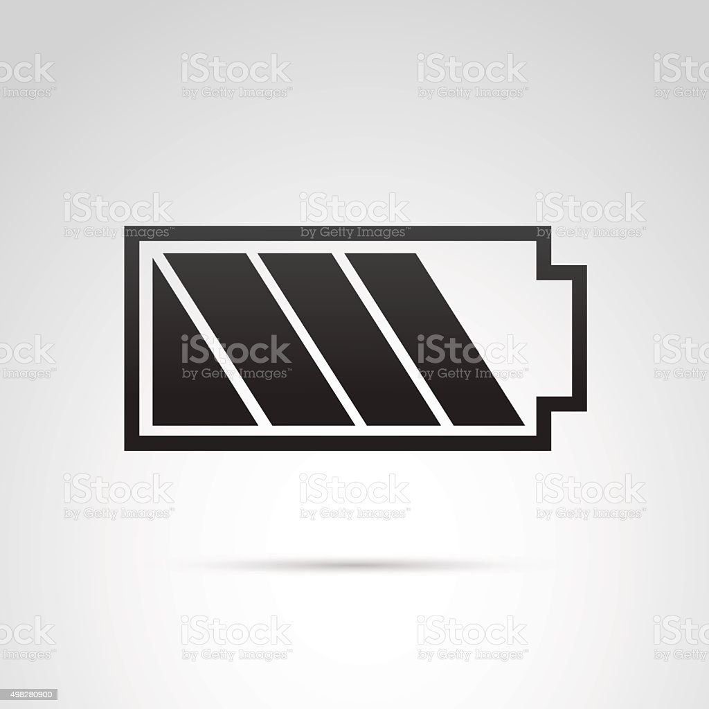 Battery icon isolated on white background. vector art illustration