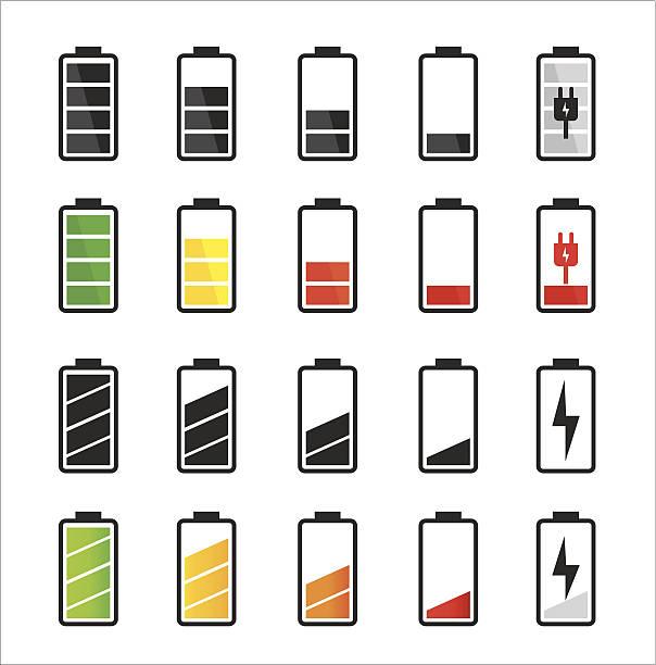 Batterie-icon-set – Vektorgrafik