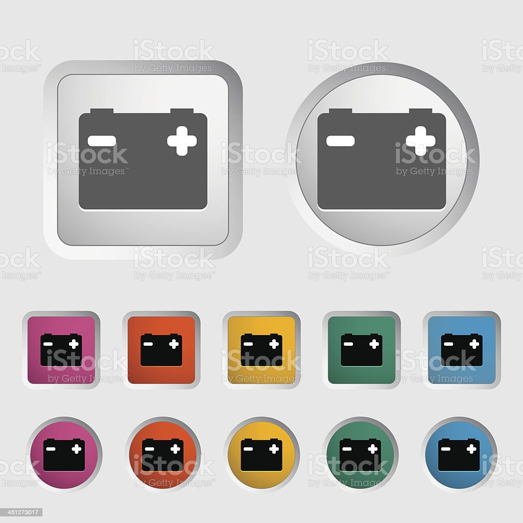 Battery icon. royalty-free stock vector art