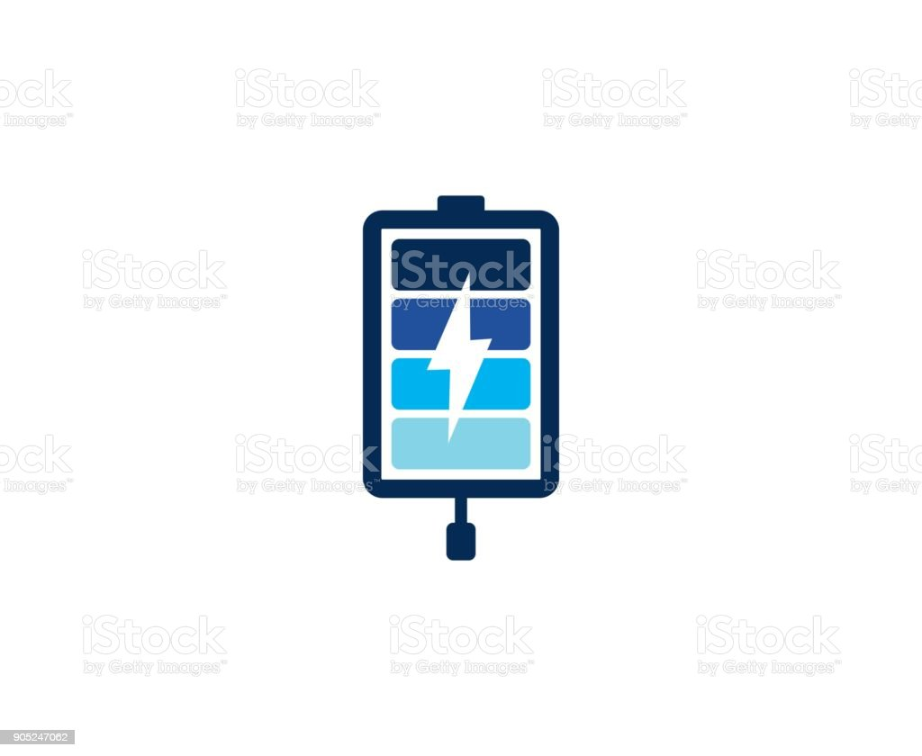 Battery icon vector art illustration