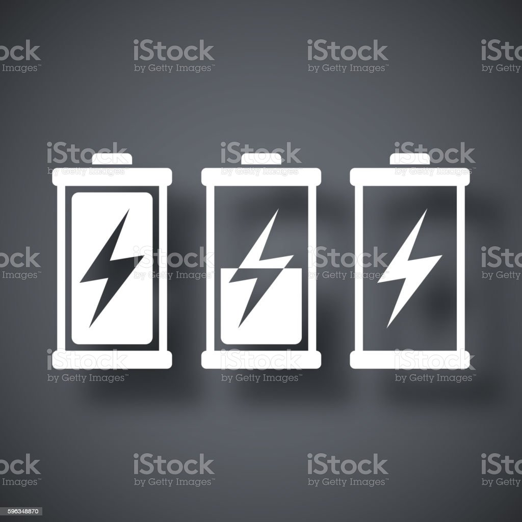 Battery icons set, vector royalty-free battery icons set vector stock vector art & more images of alkaline