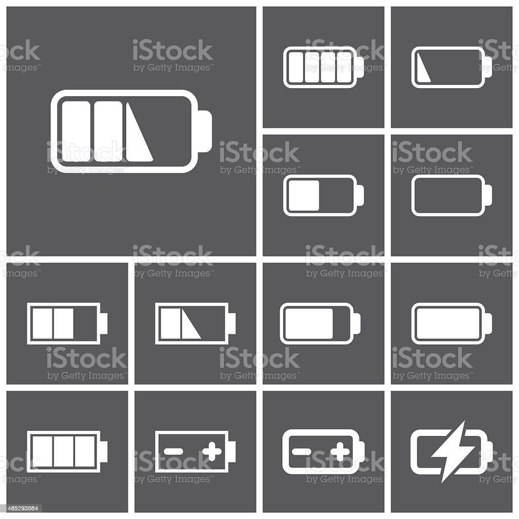 Battery icons vector art illustration