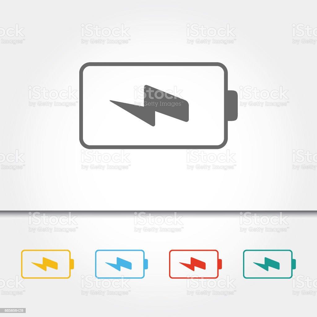 Battery Indicator Single Icon Vector Illustration vector art illustration