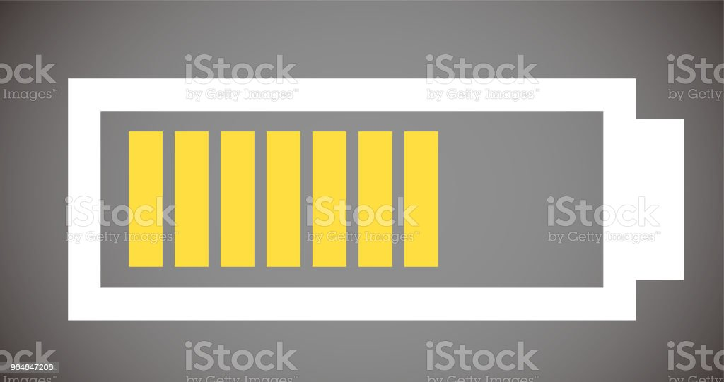 Battery level illustration 7 royalty-free battery level illustration 7 stock illustration - download image now