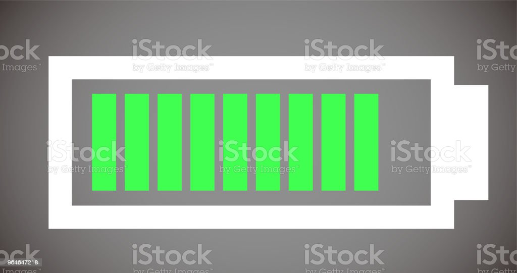 Battery level illustration 9 royalty-free battery level illustration 9 stock vector art & more images of no people