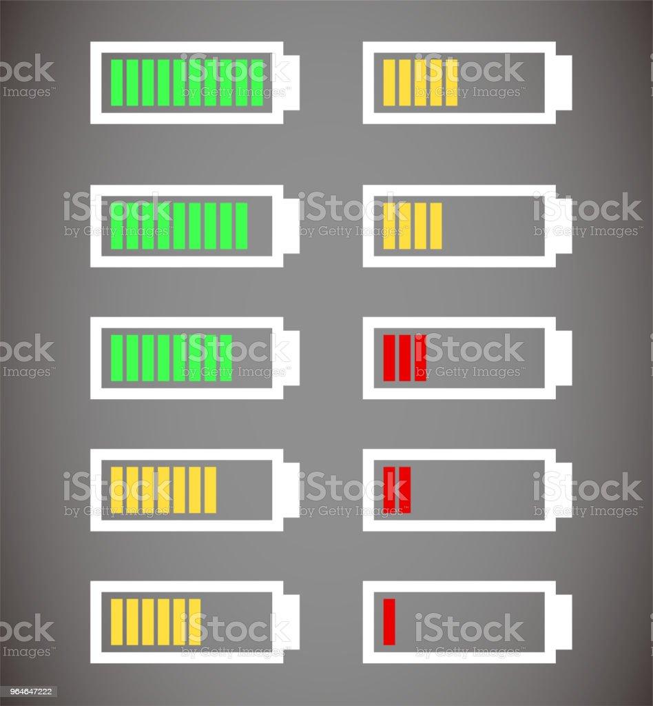 Battery level illustration set royalty-free battery level illustration set stock illustration - download image now