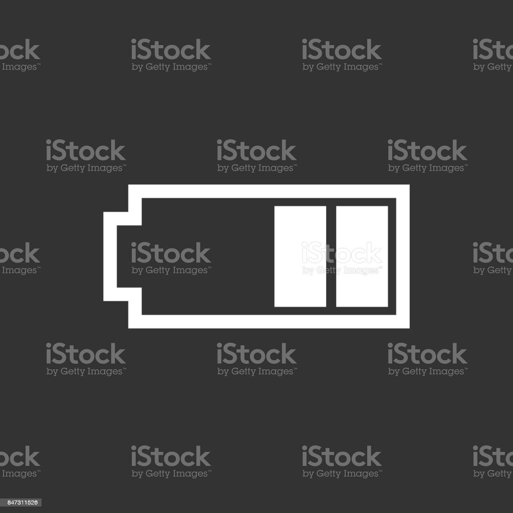 Battery Level Indicator Vector Illustration On Black Background Royalty Free