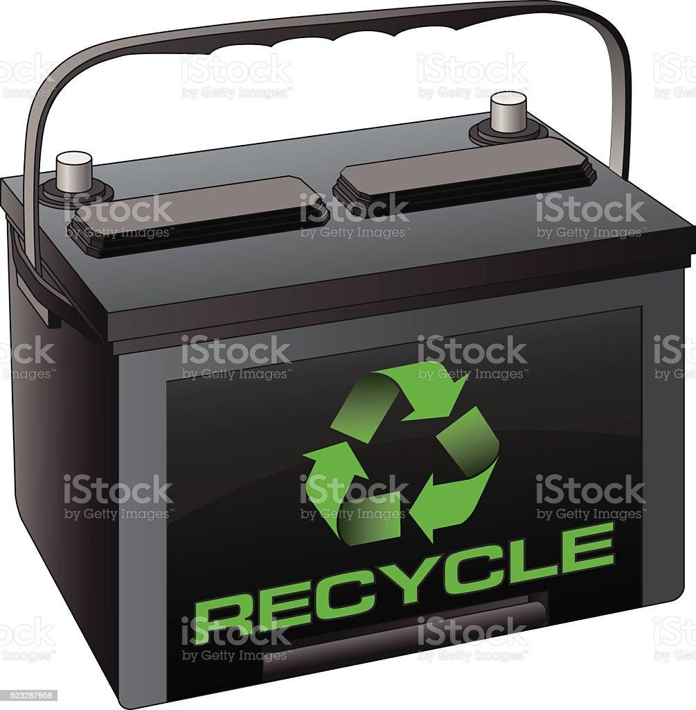 Battery Recycling – Vektorgrafik