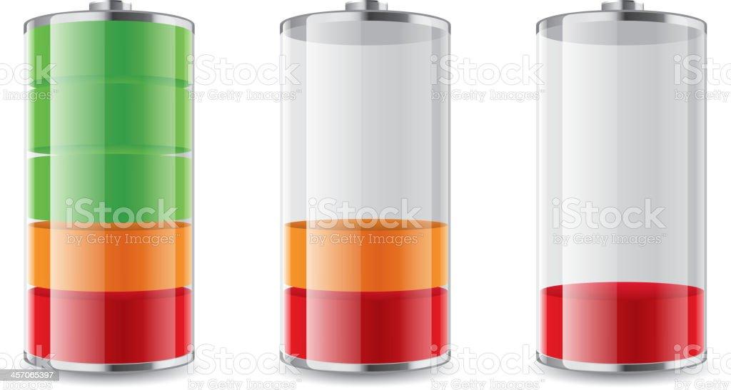 Battery symbol vector art illustration