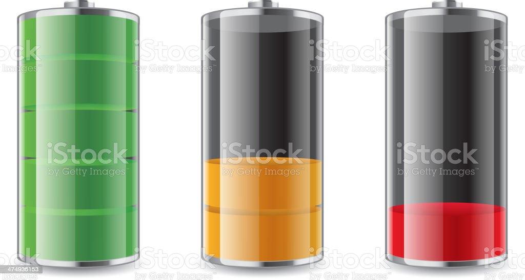Battery symbole vector art illustration