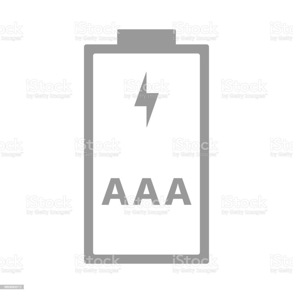 Ilustración de Aaa Pilas R03 Tamaño De Celda De Triple A Icono De ...