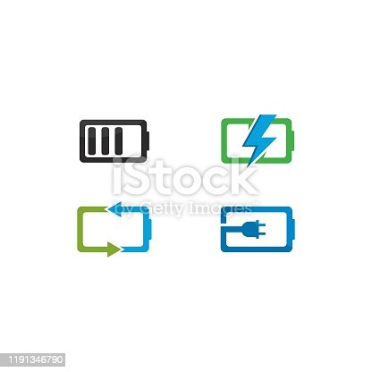 Battery  vector icon illustration in flat design
