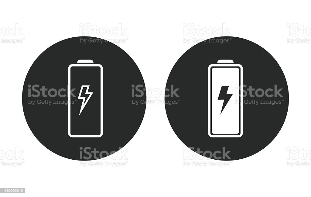 Battery - vector icon. vector art illustration