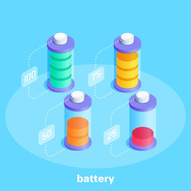 battery vector art illustration
