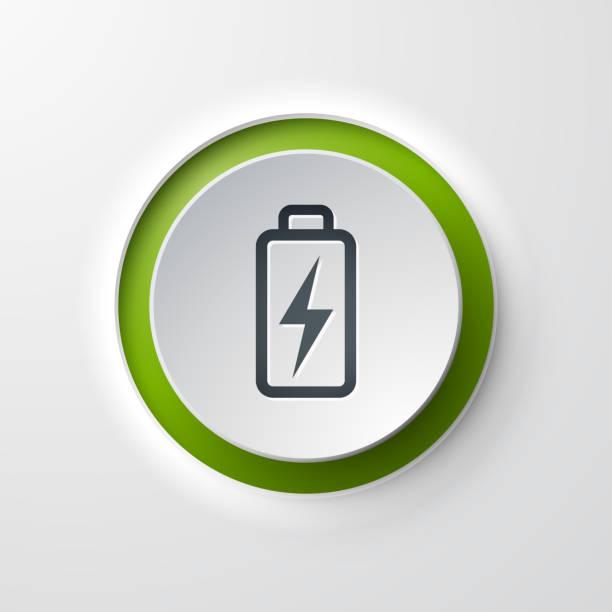 Batterie Web Symbol Taster – Vektorgrafik