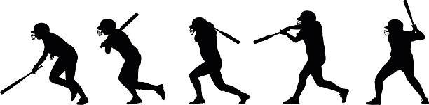 batting シーケンス - ソフトボール点のイラスト素材/クリップアート素材/マンガ素材/アイコン素材