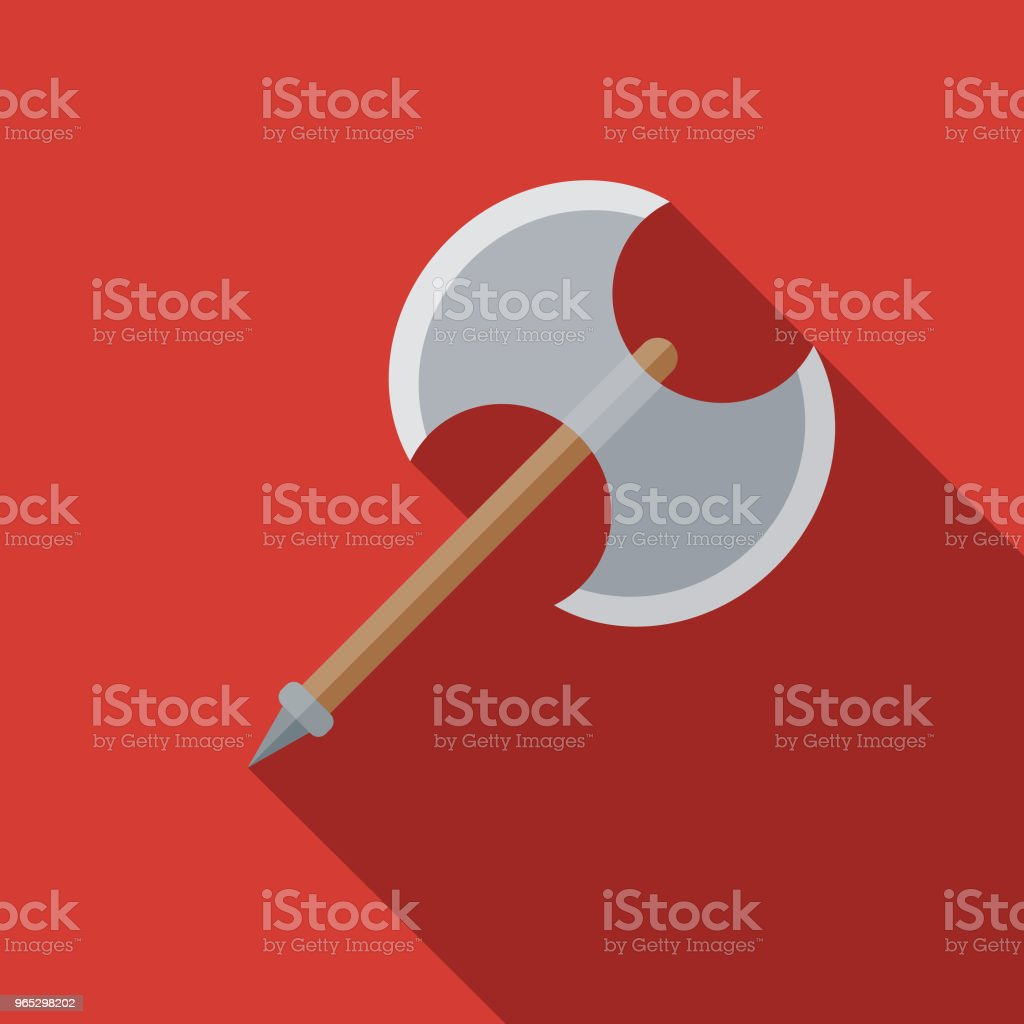 Battle Axe Flat Design Fantasy Icon royalty-free battle axe flat design fantasy icon stock vector art & more images of adventure