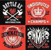 Battle MMA emblem set