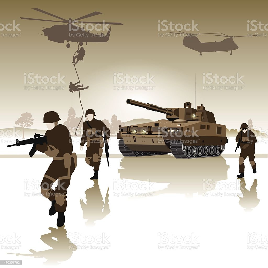 Battlefield vector art illustration