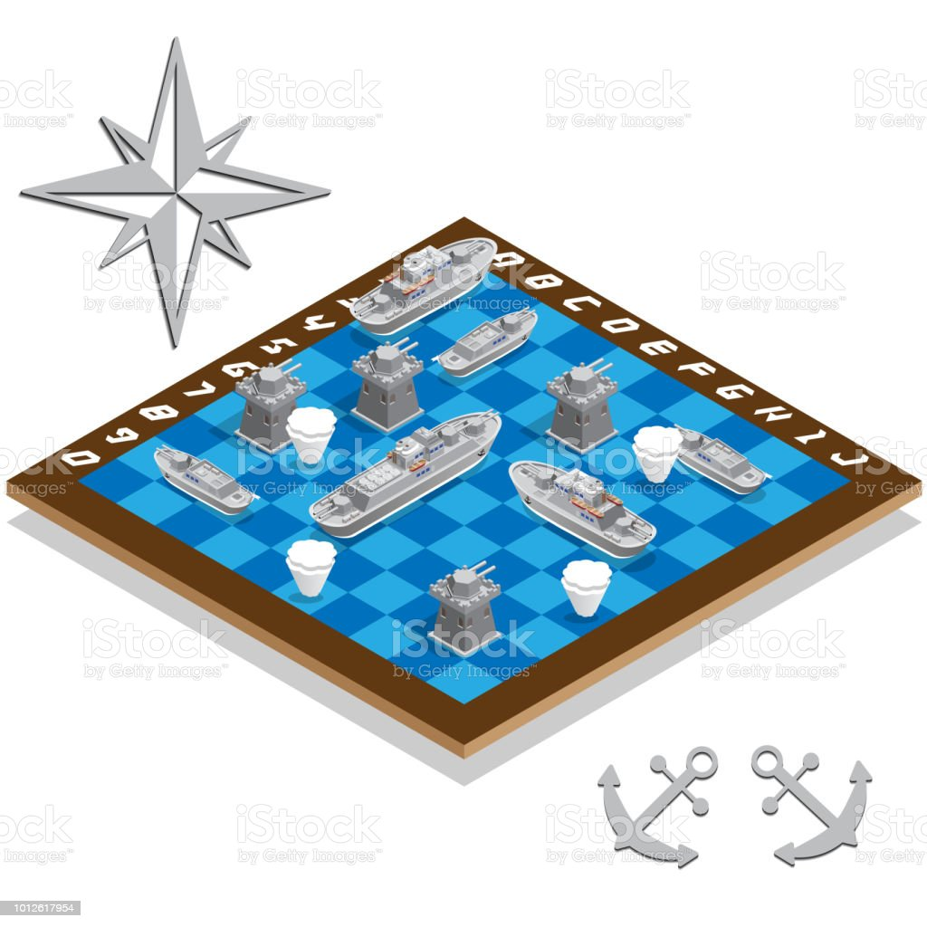 Battleship. vector art illustration