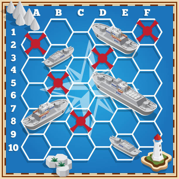 77 Battleship Game Illustrations Clip Art Istock
