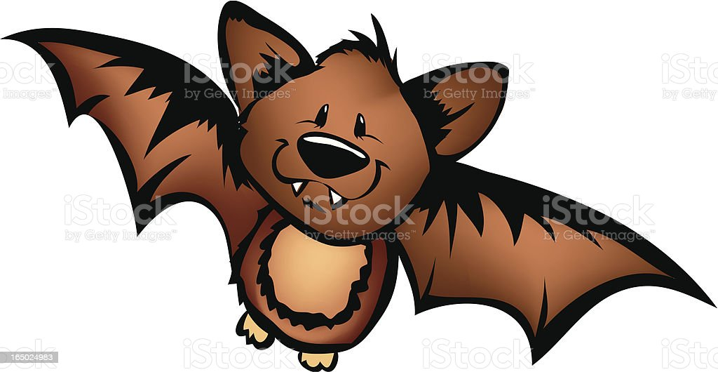Batty Little Bat royalty-free stock vector art
