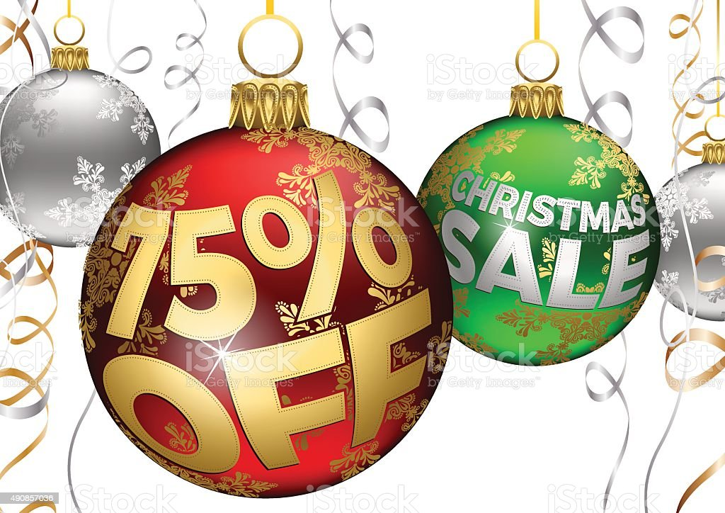 75 off baubles and ribbons christmas sale balls royalty free 75 off baubles