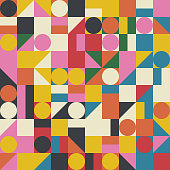 istock Bauhaus Abstract Vector Composition Design 1275325721