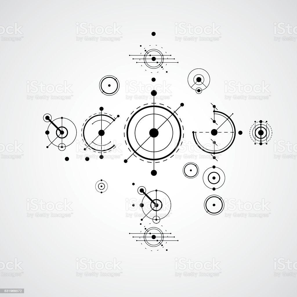 Ilustración de Bauhaus Arte Composición Almohadones Decorativos ...