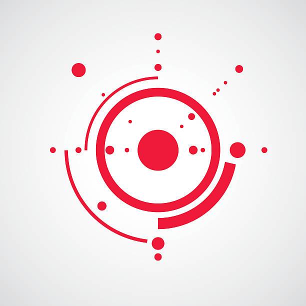 bauhaus-art komposition, dekorative modulare rote vektor tapete - bauhaus stock-grafiken, -clipart, -cartoons und -symbole