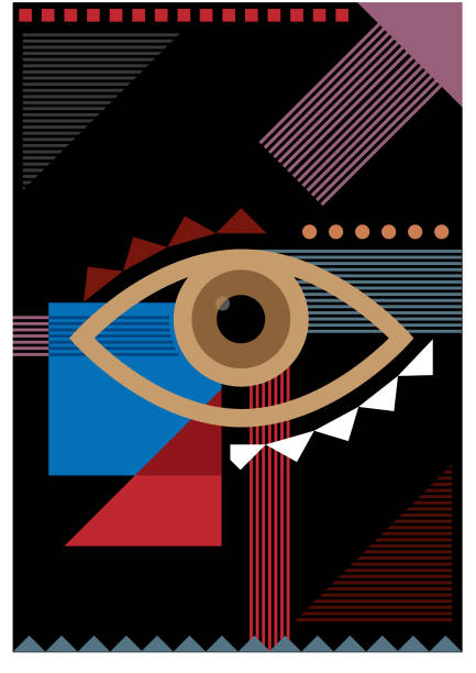 Bauhaus dark eye illustration vector art illustration