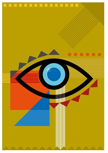 Bauhaus eye illustration