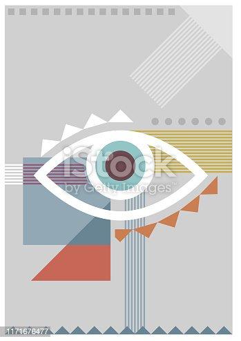 istock Bauhaus eye pale illustration 1171676477