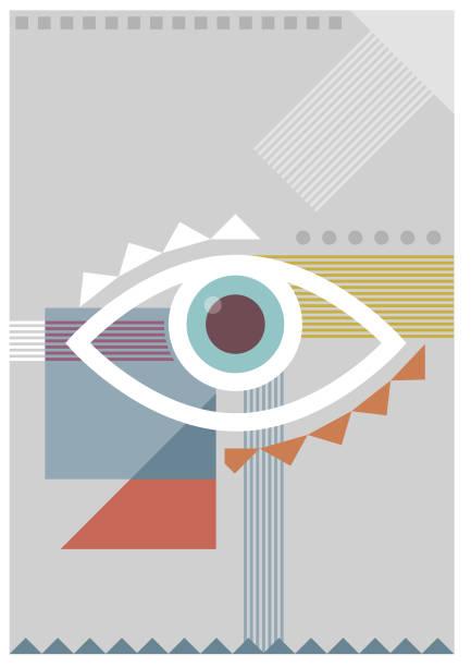 Bauhaus eye pale illustration vector art illustration