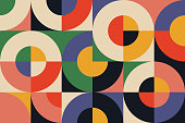 istock Bauhaus Geometry Artwork Abstract Vector Design Background 1266719687