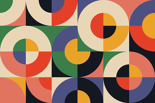 Bauhaus Geometry Artwork Abstract Vector Design Background